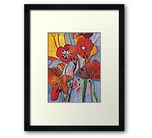 Natural selection. Modern, Contemporary painting. Framed Print