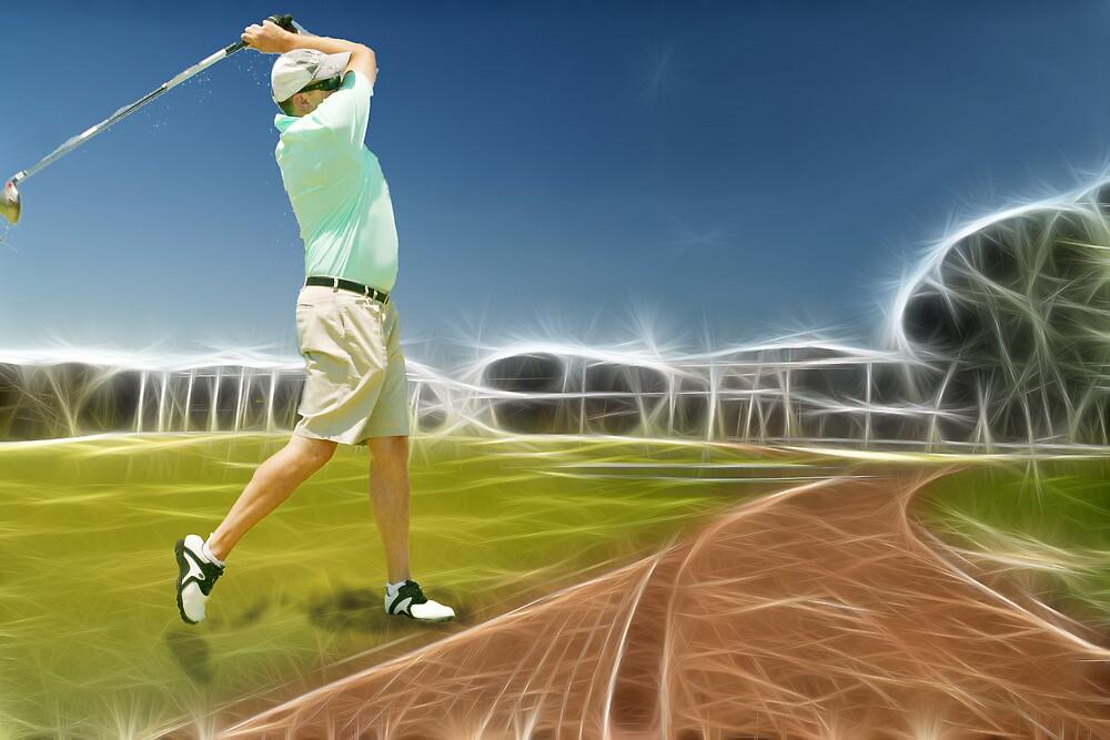 Golfer...View Big by JandeBeer