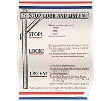 United States Department of Agriculture Poster 0203 Stop Look Listen Poster