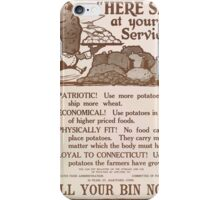 United States Department of Agriculture Poster 0197 Here Sir At Your Service Patriotic Potatoes Economical Fitness iPhone Case/Skin
