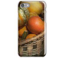 Autumn - Pumpkins in a basket iPhone Case/Skin
