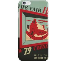 WPA United States Government Work Project Administration Poster 0743 World's Fair IBM show iPhone Case/Skin
