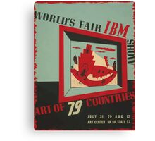 WPA United States Government Work Project Administration Poster 0743 World's Fair IBM show Canvas Print
