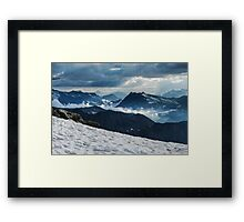Cloudy valley Framed Print