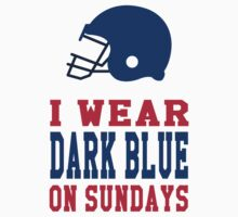 I Wear Dark Blue on Sundays Baby Tee