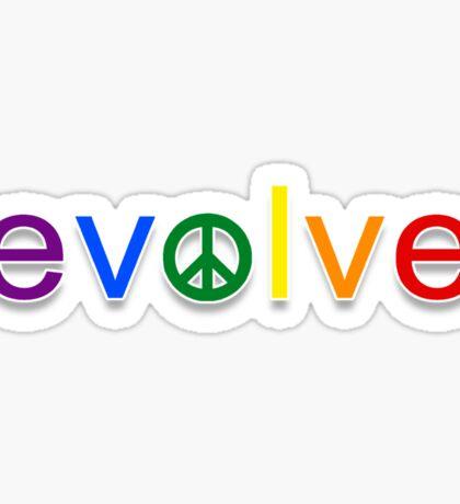 Evolve: Coexist in Peace Sticker
