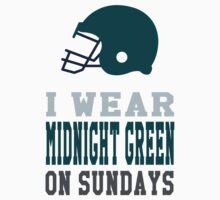 I Wear Midnight Green on Sundays Kids Tee