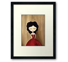 red princess Framed Print