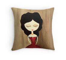 red princess Throw Pillow