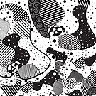 Black And White Abstract Geometric Modern Art by artonwear