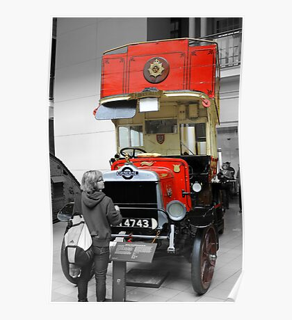 Old London Bus Poster