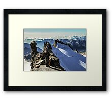 On the summit Framed Print