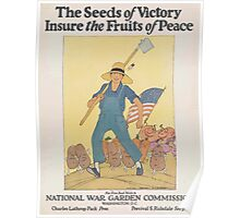 United States Department of Agriculture Poster 0117 Seeds of Victory Ensure Fruits of Peace National War Garden Commission Poster