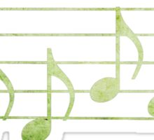 DRUMS - Words in Music - green -  V-Note Creations Sticker