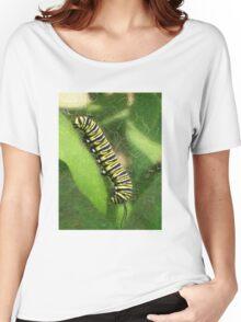 Monarch Caterpillar - Sunset Relaxing Women's Relaxed Fit T-Shirt