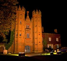 The Deanery Tower at night by Geoff Carpenter