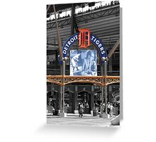 Comerica Park baseball stadium Detroit Greeting Card
