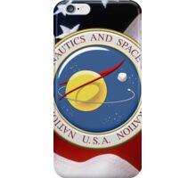 NASA Emblem over American Flag iPhone Case/Skin