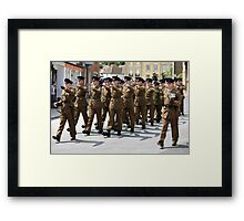 British Soldiers on Parade Framed Print