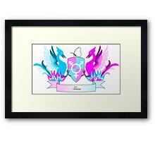 Trans Crest Framed Print