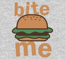 Bite me with cute hamburger One Piece - Long Sleeve