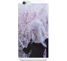 Flower spring girl iPhone Case/Skin