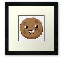 cute kawaii cookie monster face Framed Print