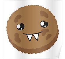 cute kawaii cookie monster face Poster