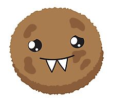 cute kawaii cookie monster face Photographic Print