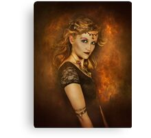 Fire girl  Canvas Print