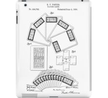 Playing Cards Patent 1889 iPad Case/Skin