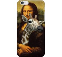 Mona Lisa Loves Giraffes iPhone Case/Skin
