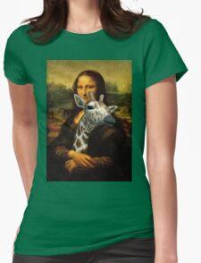 Mona Lisa Loves Giraffes Womens Fitted T-Shirt