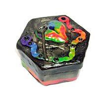 Polymer Box - Rainbow Heart & Key by d2dzynes