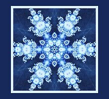 Hanukkah Card Shalom Blue Kaleidoscope by photonutzz