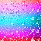 Colorful Gradient Water Droplets Background by artonwear