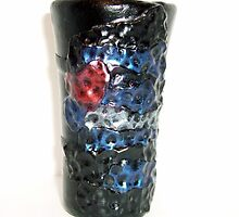 """Polymer """"Hammered Pride"""" (Leather Logo) Shot Glass  by d2dzynes"""