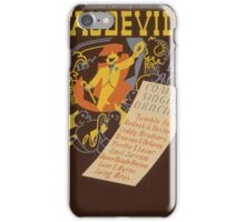 WPA United States Government Work Project Administration Poster 0620 Vaudeville 9 Big Acts iPhone Case/Skin