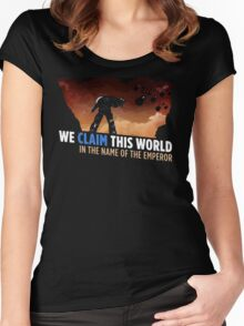 We claim this world Women's Fitted Scoop T-Shirt