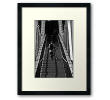 the lonely commuter Framed Print