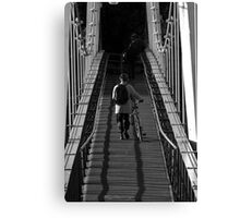 the lonely commuter Canvas Print