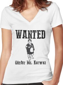 Günter Mc. Korvas Women's Fitted V-Neck T-Shirt