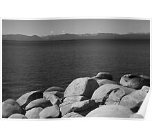Lake Tahoe in Black and White Poster