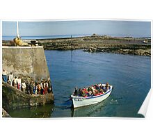 Farne Island Boat trips, Northumberland, UK 1980s Poster