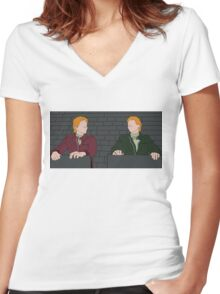 The Weasley Twins Women's Fitted V-Neck T-Shirt