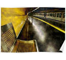 Yellow Underground, from Sol station in Madrid. Spain. Poster