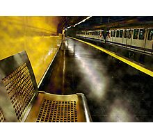 Yellow Underground, from Sol station in Madrid. Spain. Photographic Print