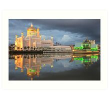 Mosque  Sultan Omar Ali Saifuddin in Brunei Art Print