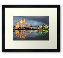 Mosque  Sultan Omar Ali Saifuddin in Brunei Framed Print