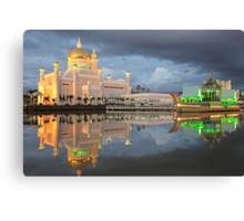 Mosque  Sultan Omar Ali Saifuddin in Brunei Canvas Print